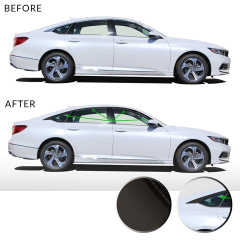 Accord Sedan Window Chrome Delete 2018-2019 - Black