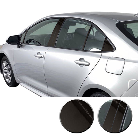 Window Pillar Posts Overlay Precut Trim Compatible with and Fits Corolla Toyota 2020