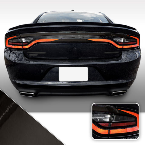 Tail Light Accent Vinyl Wrap Overlay Kit V2 Compatible with Dodge Charger 2015-2020