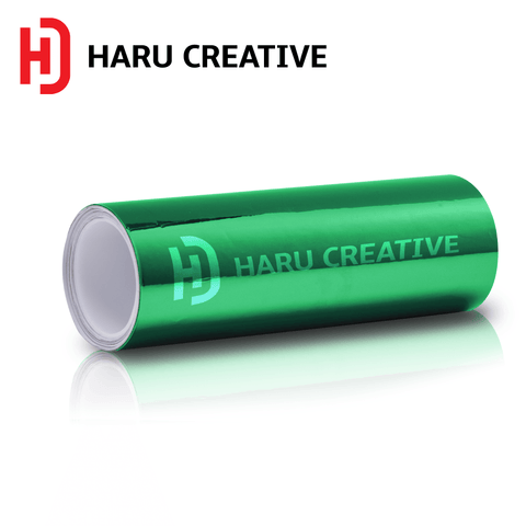 Green Chrome Vinyl Wrap - Adhesive Decal Film Sheet Roll - Haru Creative Chrome