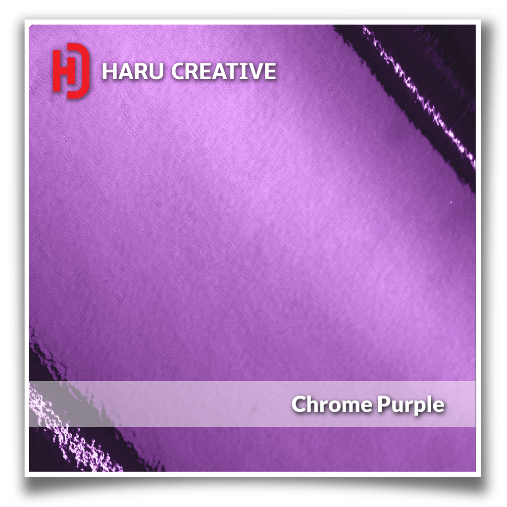 Purple Chrome Vinyl Wrap - Adhesive Decal Film Sheet Roll - Haru Creative Chrome