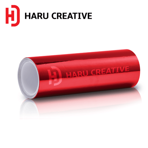 Red Chrome Vinyl Wrap - Adhesive Decal Film Sheet Roll - Haru Creative Chrome