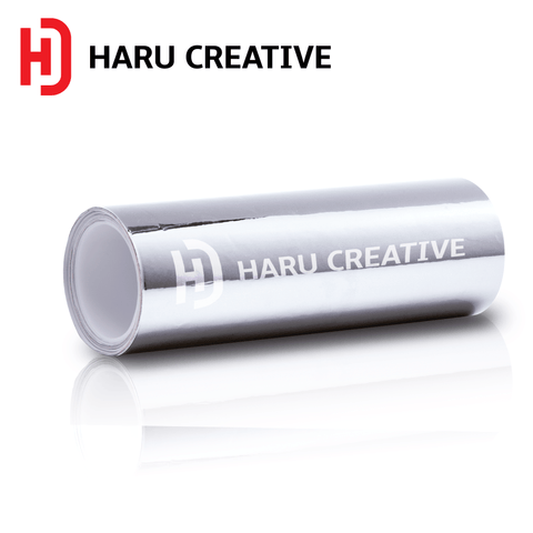 Silver Chrome Vinyl Wrap - Adhesive Decal Film Sheet Roll - Haru Creative Chrome