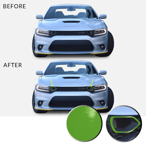 Front Bumper Upper Grille Bezel Overlay Wrap Vinyl Decal Compatible with and Fits Charger Scat Pack 2019