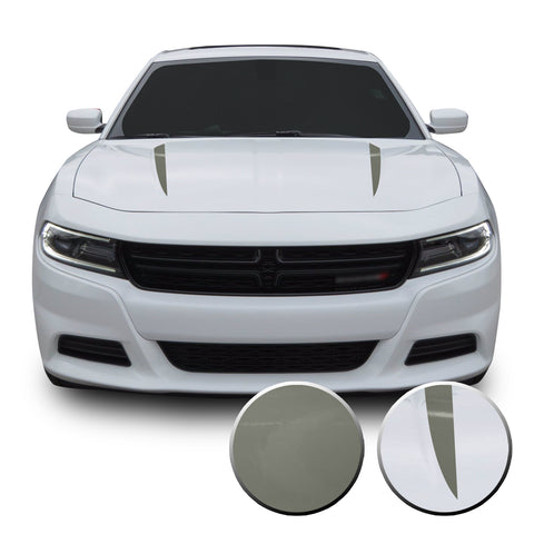 Hood Spears Racing Trim Vinyl Decal Compatible with Dodge Charger 2015 - 2020