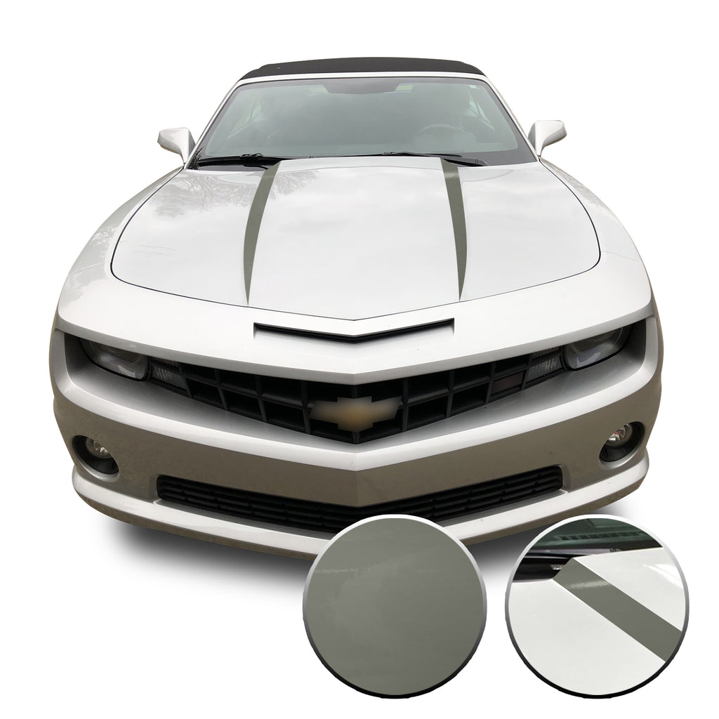 Hood Spears Vinyl Decal Overlay Trim Wrap Compatible with & Fits Camaro 2010-2015