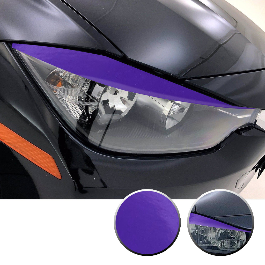 Headlight Eyelid Eyebrow Overlay Vinyl Decal Compatible with BMW 3 Series F30 2012 - 2016