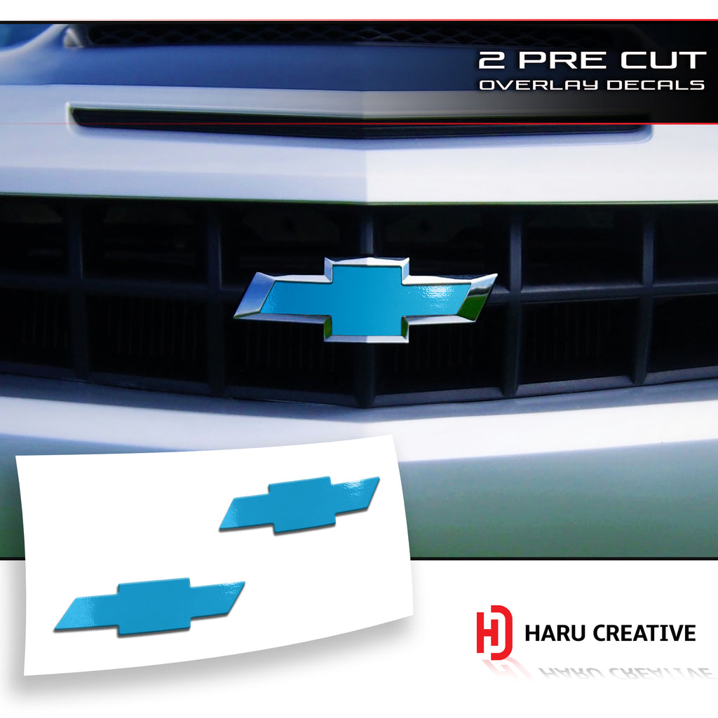 2010-13 Chevy Chevrolet Camaro Front Emblem Decal Insert Overlay Decal Sticker - Haru Creative Decals