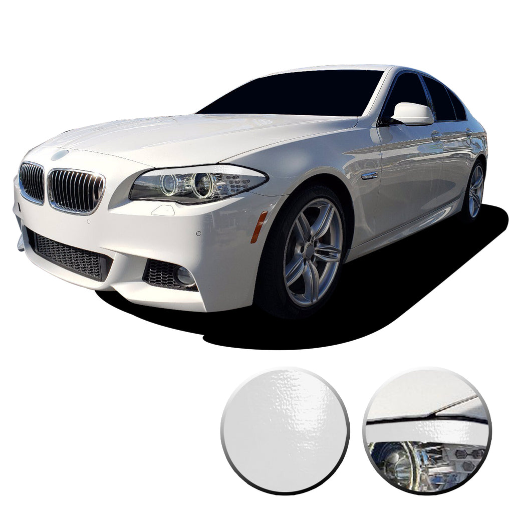 2011-2013 BMW 5 SERIES F10 PRECUT HEADLIGHT EYELID GLOSS BLACK OVERLAYS