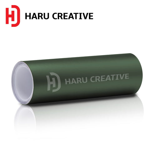 Army Green Matte Vinyl Wrap - Adhesive Decal Film Sheet Roll - Haru Creative Matte