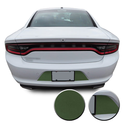 Rear Bumper License Plate Overlay Vinyl Decal Compatible with Dodge Charger 2015 - 2020