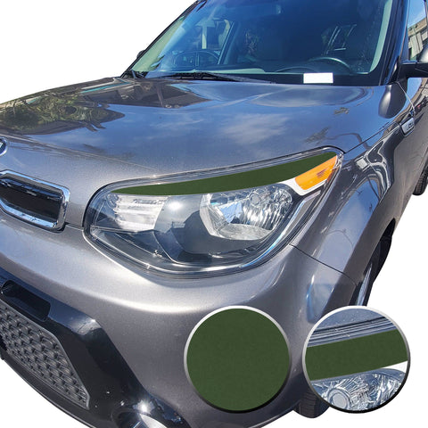 Eyelid Accent Overlay Precut Decal Vinyl Trim Compatible with and Fits Kia Soul 2014 2015 2016