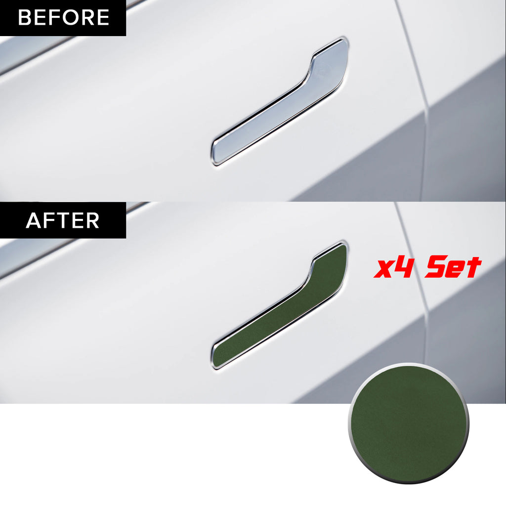 Door Handle Overlay Wrap Vinyl Decal Sticker Compatible with and Fits Tesla Model 3 (Four Piece Set