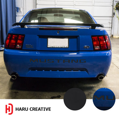 1999-2004 Ford Mustang Rear Bumper Decal Insert Overlay Decal Sticker - Haru Creative Decals