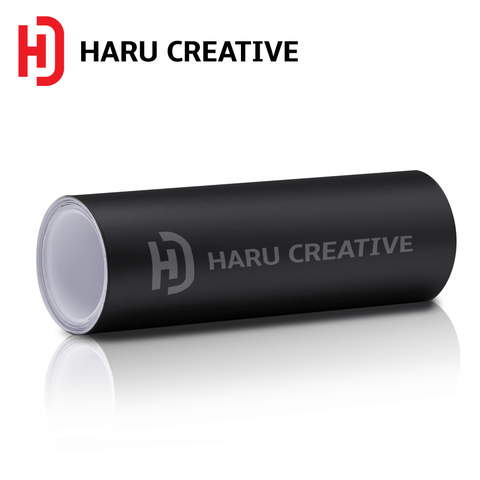 Black Matte Vinyl Wrap - Adhesive Decal Film Sheet Roll - Haru Creative Matte