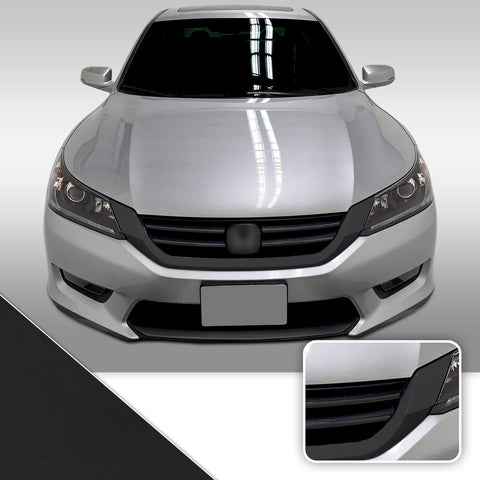 Front Grille Trim Chrome Delete Vinyl Wrap Overlay Kit Compatible with Honda Accord Sedan 2014 - 2015