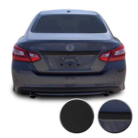 Rear Trunk Trim Chrome Delete Vinyl Wrap Overlay Kit Compatible with Nissan Altima 2013 - 2018