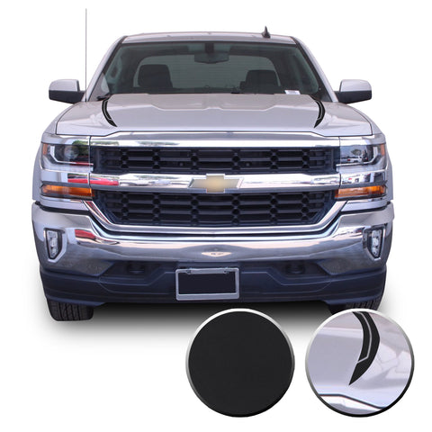 Hood Spears Graphic Overlay Vinyl Decal Wrap Line Cut Compatible with Silverado 1500 2016-2018