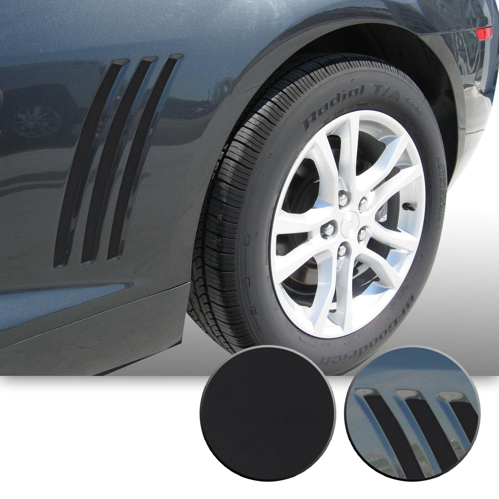 Side Vent Stipe Insert Overlay Inlay Vinyl Decal Sticker Compatible with and Fits Chevy Camaro 2010 2011 2012 2013 2014 2015