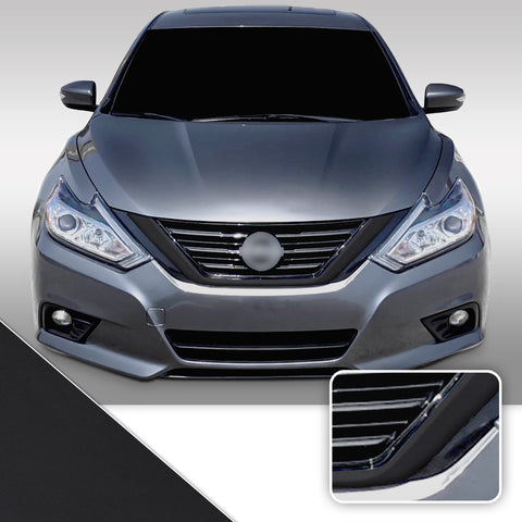 Front Grille Trim Chrome Delete Vinyl Wrap Overlay Kit Compatible with Nissan Altima 2016-2018