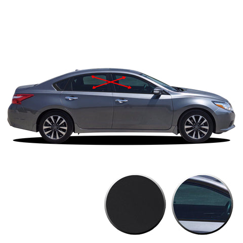 Window Trim Chrome Delete Vinyl Wrap Overlay Kit Compatible with Nissan Altima 2013 - 2018