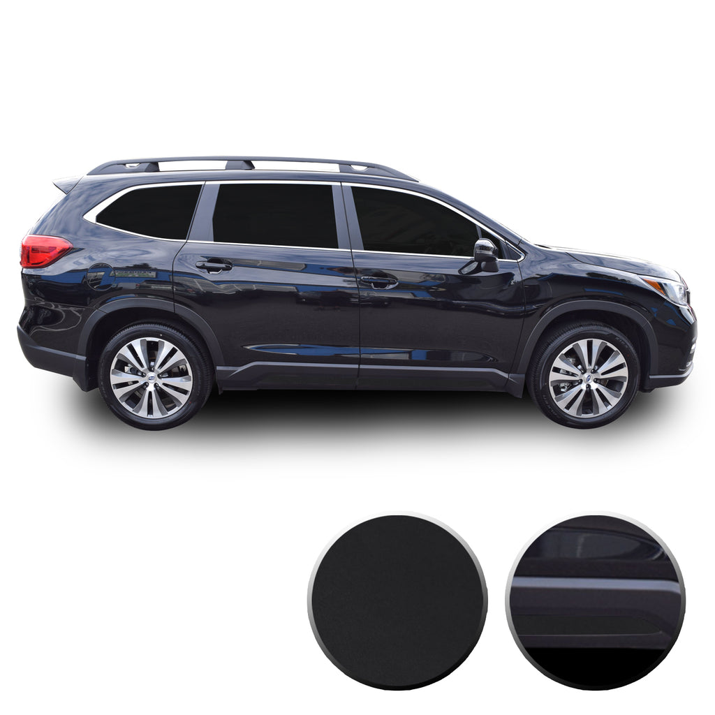 Lower Door Trim Chrome Delete Vinyl Wrap Overlay Kit Compatible with Subaru Ascent 2019 - 2021