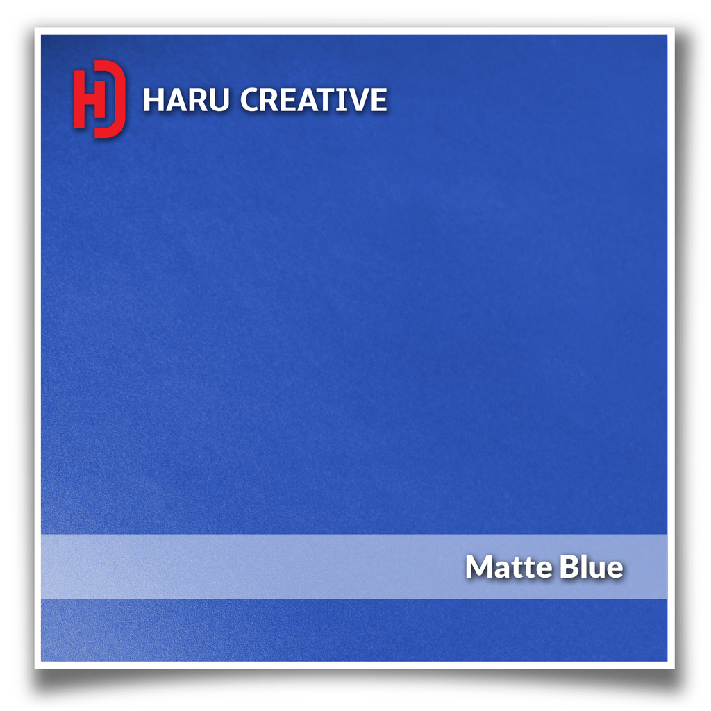 Blue Matte Vinyl Wrap - Adhesive Decal Film Sheet Roll - Haru Creative Matte