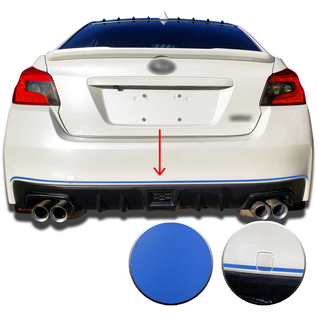 Rear Bumper Pin Decal Overlay Wrap Compatible with and Fits WRX STi Subaru 2015-2019