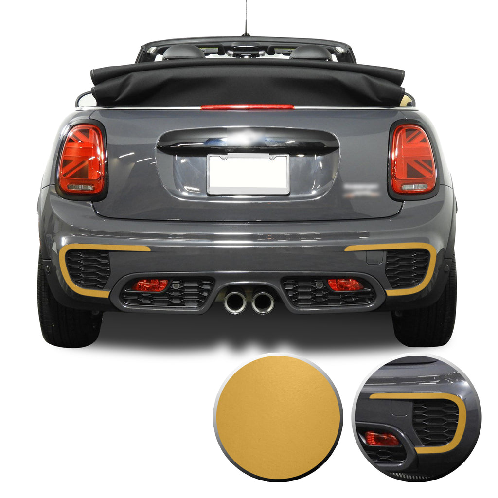 Rear Bumper Vinyl Overlay Decals Compatible With and Fits 2015-2020 Mini Cooper JCW