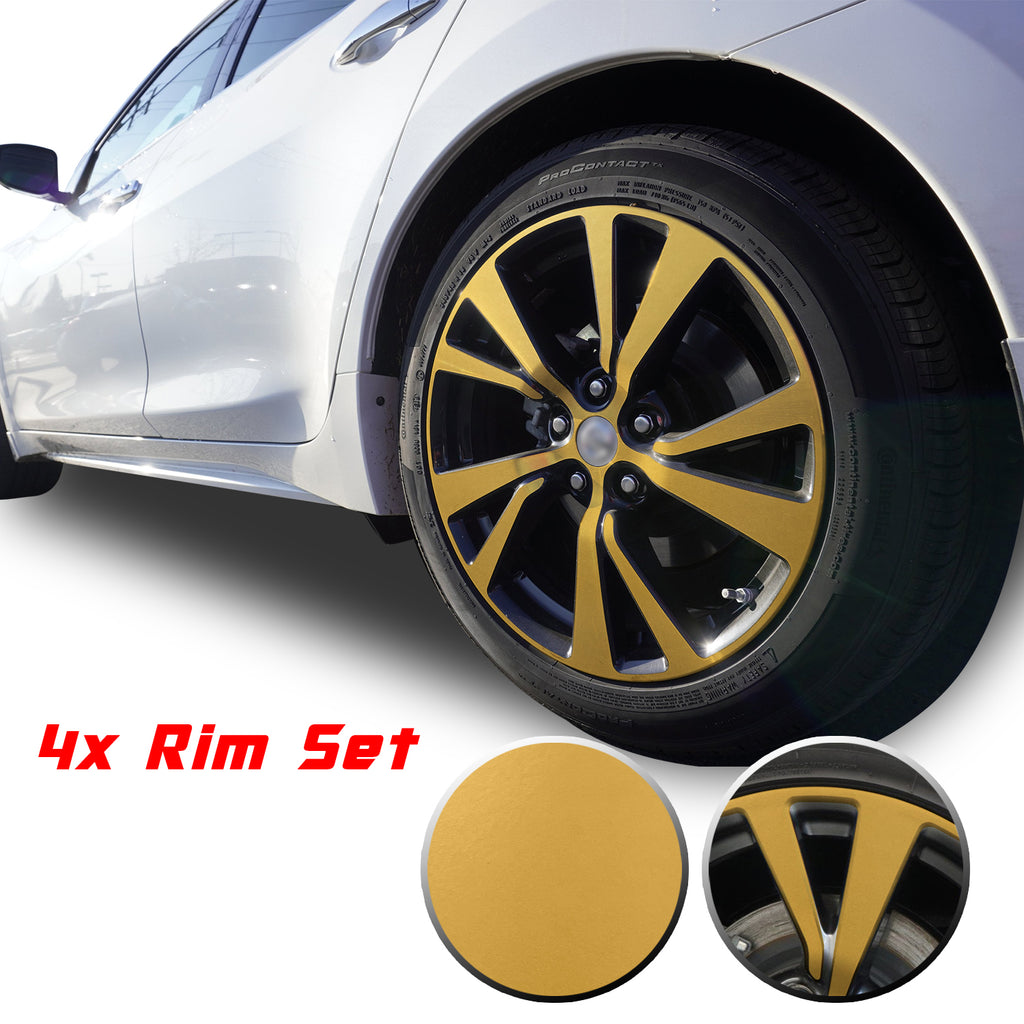 "18"" Wheel Rim Chrome Delete Vinyl Wrap Overlay Kit Compatible with and Fits Maxima 2016 - 2020"