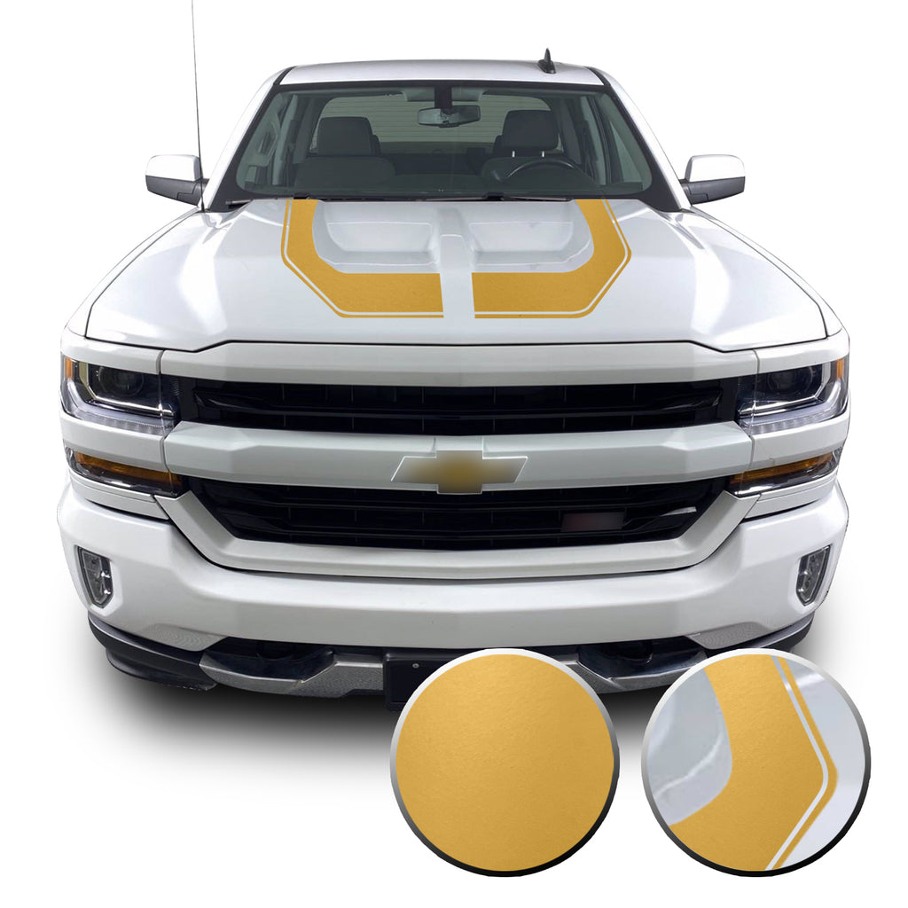 Rally Edition Style Hood Decal for 2016-2018 Z71 Chevrolet Silverado 1500