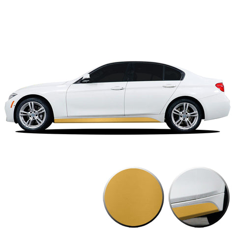 Lower Side Stripe Vinyl Overlay Set Decal Compatible with and Fits 2007-2019 BMW 3 Series F30 F31 E90 E91 Panel
