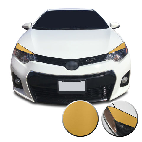 Headlight Eyelid Accent Vinyl Decal Overlay Wrap Trim Compatible with and Fits Toyota Corolla 2014-2016
