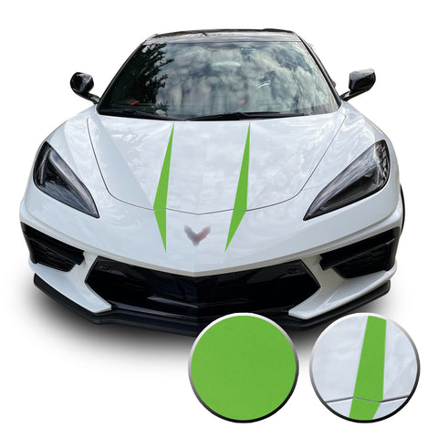 2020 C8 Corvette Hood Spears Vinyl Graphics Decals