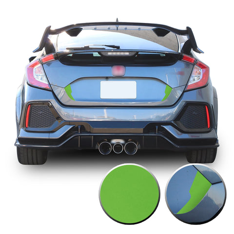 Trunk Fangs Accent Vinyl Decal Overlay Wrap Compatible with Honda Civic Sedan Hatchback 2016-2020