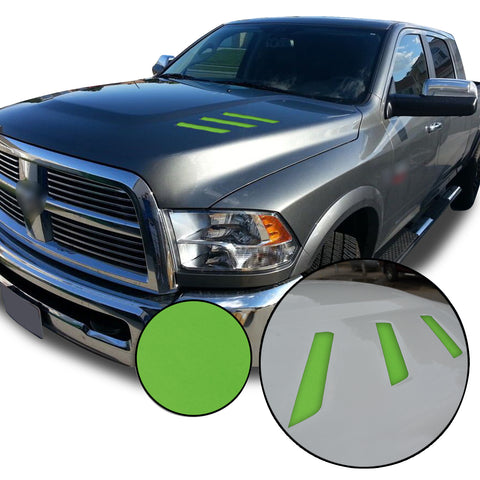 Front Hood Grille Stripe Insert Overlay Vinyl Decal Sticker Compatible with and Fits Dodge Ram (2010-2018)