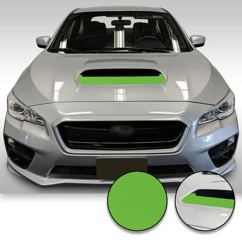 Hood Scoop Accent Trim Overlay Wrap Vinyl Insert Decal Sticker Compatible with and Fits WRX STi 2015-2020