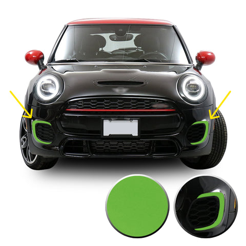 Front Bumper Bezel Accent Vinyl Decal Overlay Wrap Compatible with John Cooper Works F56 F57 F55 Mini 2015-2020