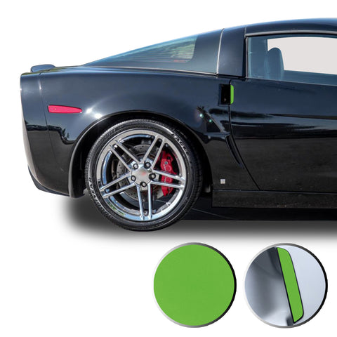 Door Handle Overlay Trim Wrap Vinyl Decal Sticker Compatible with and Fits Corvette 2005-2013