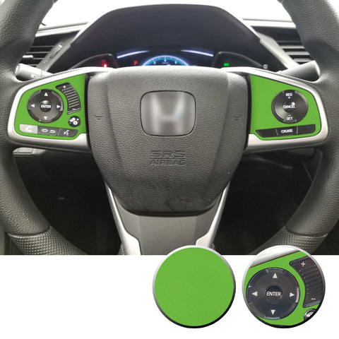 Steering Wheel Side Control Panel Trim Vinyl Decal Overlay Accent Compatible with Honda Civic 2016-2020