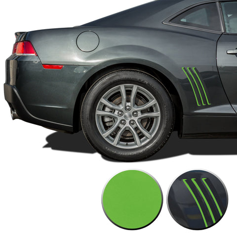 Thin Side Vent Vinyl Decal Overlay Wrap Trim Compatible with and Fits Camaro 2010-2015