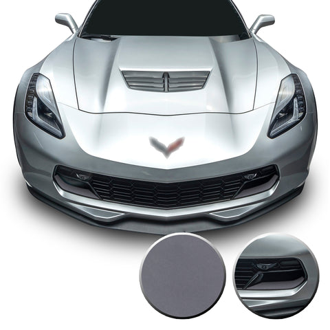 Front Grille Brake Scoop Accent Vinyl Decal Overlay Wrap Compatible with Corvette C7 Z06 Grand Sport 2014-2019