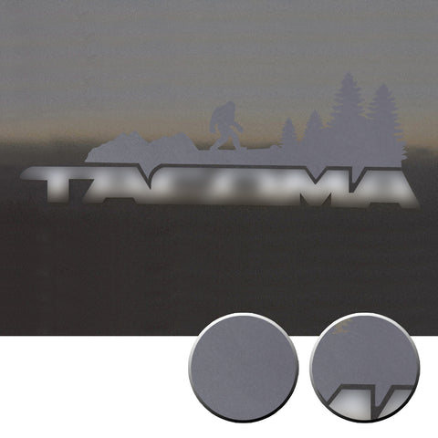 2x Door Badge Emblem Bigfoot Vinyl Decals Overlay Compatible with Toyota Tacoma 2005-2015