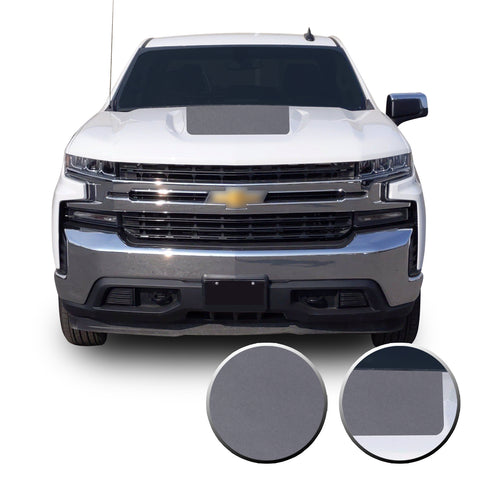 2019-20 Chevy Silverado Z71 TRAIL BOSS Custom MATTE BLACK Hood Decal Graphic