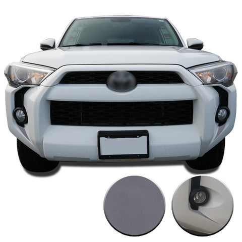 Fog Light Bezel Fangs Vinyl Wrap Overlay Kit Compatible with and Fits 4Runner 2014-2020