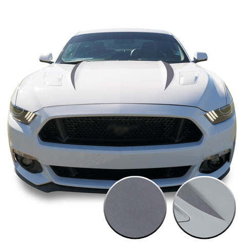 Hood Spears Stripes Vinyl Decal Overlay Wrap Trim Compatible with and Fits Mustang 2015-2017