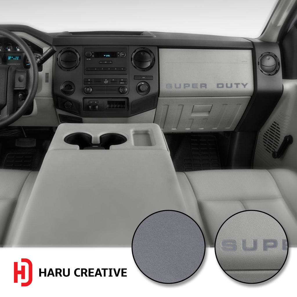 Ford Super Duty F250 F350 F450 (2008-2016) Glove Box Letter Insert Overlay Vinyl Decal - Haru Creative Decals