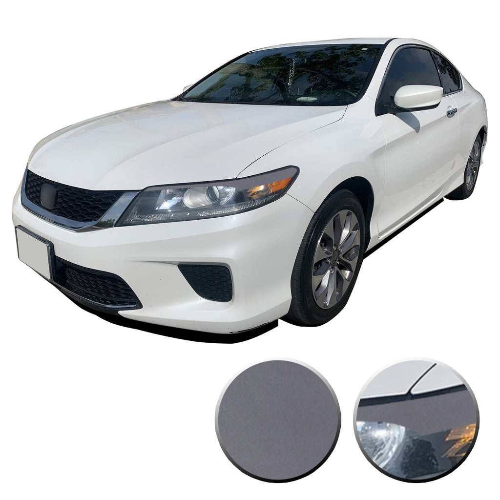 PreCut Vinyl EYELID Overlay GLOSS BLACK for 2013-2015 Accord SEDAN 4DR Headlight