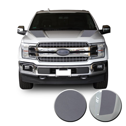 Front Solid Hood Stripes Vinyl Graphic Decal Overlay Wrap Compatible with and Fits F-150 2015-2020