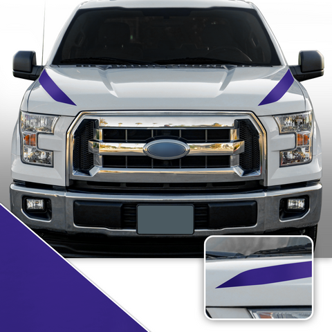 Outer Hood Spears Overlay Decal Trim Compatible with and Fits F150 + Raptor 2015-2020